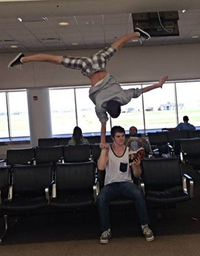 How Gymnasts Wait at the Airport