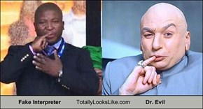Fake Interpreter From Mandela Funeral Totally Looks Like Dr. Evil