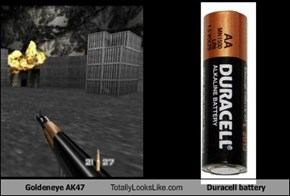 Goldeneye AK47 Totally Looks Like Duracell Battery