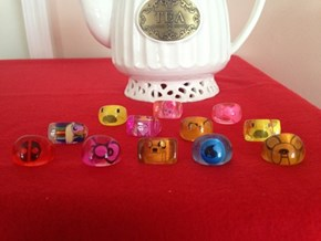 Adorable Resin Character rings