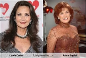 Lynda Carter Totally Looks Like Ralna English