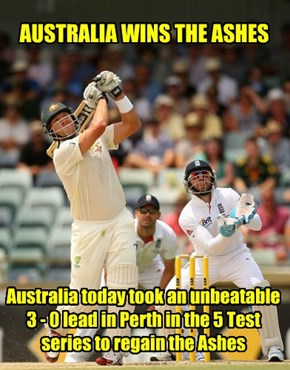 CONGRATULATIONS to Michael Clarke and a great Australian Test team!