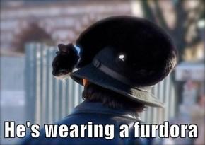 He's wearing a furdora