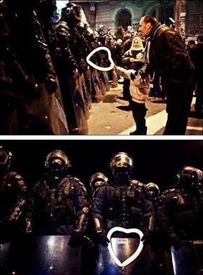 Humanity During a Protest