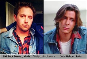 SNL Beck Bennett, Kinda Totally Looks Like Judd Nelson...Sorta