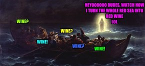 A sea of red wine, LOL ...