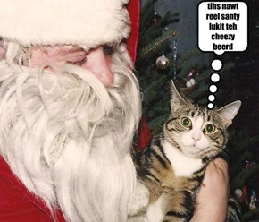 Josie meets Santa