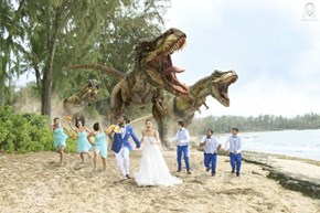 Dino Wedding Crashers is a Photoshop Trend We Want to See More of in 2014