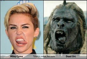 Miley Cyrus Totally Looks Like Dead Orc