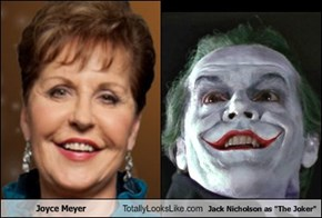 "Joyce Meyer Totally Looks Like Jack Nicholson as ""The Joker"""