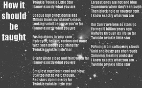 Scientifically Accurate Twinkle Twinkle Little Star