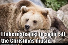 I hibernate just to avoid all the Christmas music
