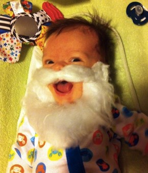 He'll make a GREAT Santa when he grows up!