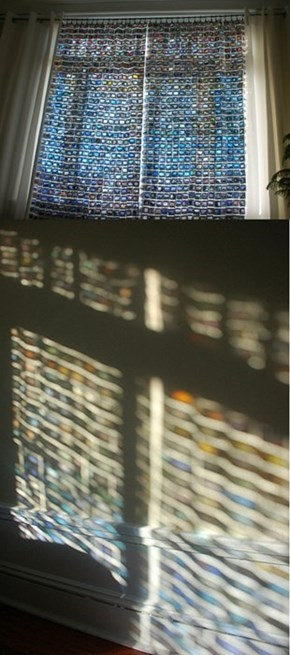 Curtains Made From Vintage Slides Create This Cool Projection
