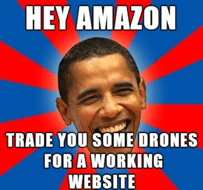 This is What Obama Was Thinking After Seeing Amazon's Drone Announcement