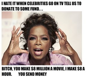 Celebrities Have the Money and They Should Give Even More