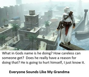 All The NPCs in Assassin's Creed Are Really Looking Your Grandma