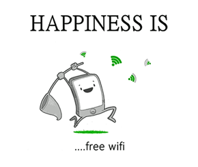 Nothing Brightens Your Day More Than Free Wifi