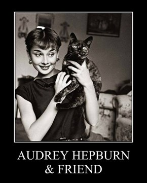 AUDREY HEPBURN & FRIEND
