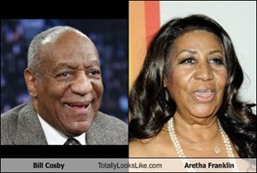 Bill Cosby Totally Looks Like Aretha Franklin