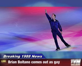 Breaking 1988 News -  Brian Boitano comes out as gay
