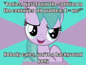 Silly pink filly with aquamarine hair is irrelevant