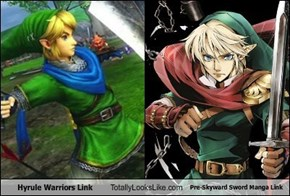 Hyrule Warriors Link Totally Looks Like Pre-Skyward Sword Manga Link