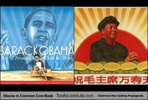 Obama in Common Core Book Totally Looks Like Chairman Mao Zedong Propaganda