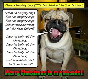 "Fleas on Naughty Dogs (TTO ""Feliz Navidad"" by Jose Feliciano)"