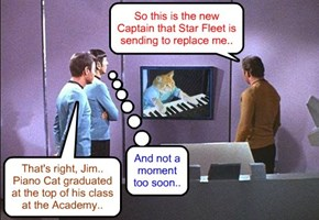 Captain Kirk gets the bad news..