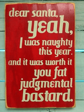 St. Nick? More Like St. D*ck!