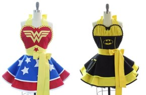Retro Superhero Aprons
