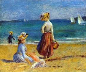 Figures On The Beach by Renoir
