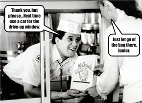 The Burger King lacked good customer service skills in the old days.