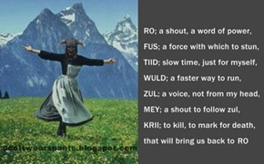 The Hills Are Alive With the Sound of Skyrim