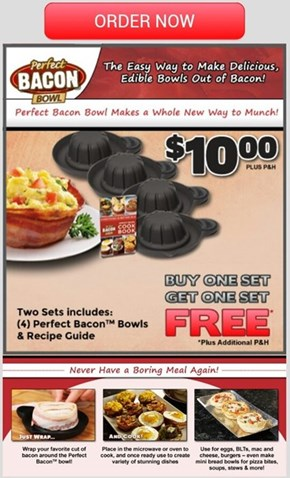 Make Bacon Into a Bowl Because 'Murica!