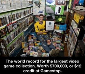 How Much is the World's Largest Video Game Collection Worth at GameStop?