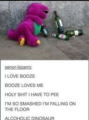 Barney Hit on some Hard Times