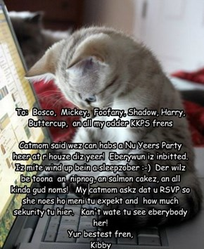 Kibby's Email Invitation to the New Year's Party