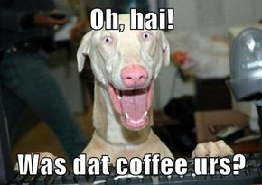 Oh, hai!  Was dat coffee urs?