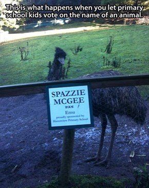 Never Let Elementary School Kids Name a Zoo Animal