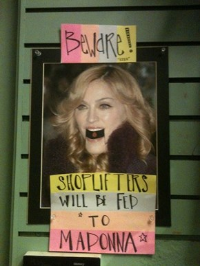 By the Shoplifters' Flesh Will Madonna's Arms be Made STRONG