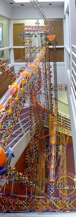 The Largest K'Nex Sculpture Ever is in The Works Museum!