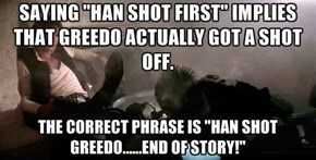 Greedo Shot Never