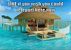 LIKE if you wish you could teleport here now