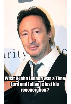 What if John Lennon was a Time Lord and Julian is just his regeneration?