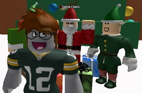 kpoppy1 with Santa Claus (on Roblox)