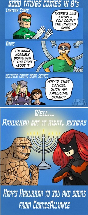 Ben Grimm and Scarlet Witch Celebrate Hanukkah
