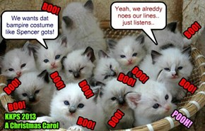 "Catmus Play Tryouts - For teh first time ever, dese ittie bitties do a group tryout for ""A Christmas Carol"".."