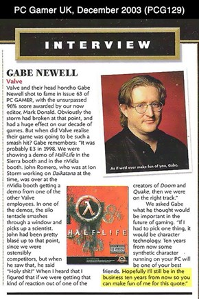 A Priceless Quote from Gabe Newell Where He Predicted the Future Ten Years Ago